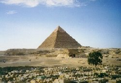 The Pyramid of Khafre  -  Copyright (c) 1997 Andrew Bayuk, All Rights Reserved