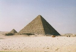 The Pyramid of Menkaura  -  Copyright (c) 1997 Andrew Bayuk, All Rights Reserved